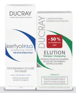 DUCRAY Kertyol PSO shamp200ml+Elution shamp 200ml