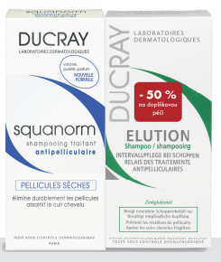 DUCRAY Squanorm sec shamp200ml+Elution shamp 200ml