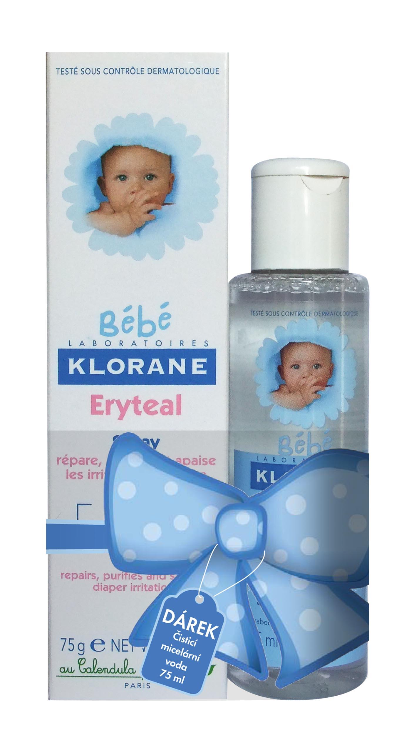 KLORANE BEBE Eryteal spray 75ml+ Micel.voda 75ml