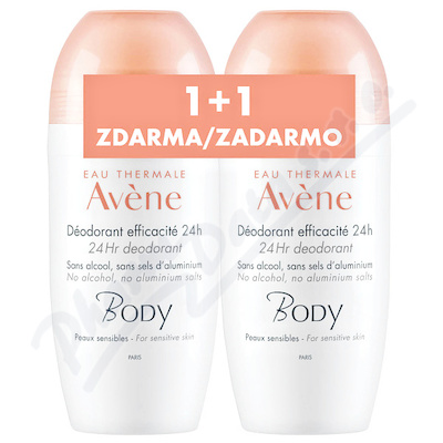 AVENE Deodorant roll-on 50ml DUO