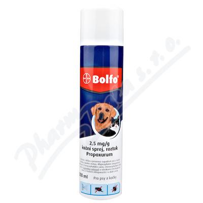 Bolfo spray 1x250ml - Veterinární přípravky a potřeby pro vaše mazlíčky.
