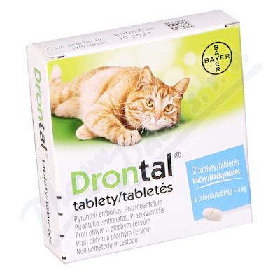 Drontal kočky a.u.v.tbl.2 - Veterinární přípravky a potřeby pro vaše mazlíčky.