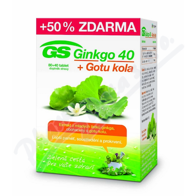 GS Ginkgo 40 + Gotu kola tbl. 80+40