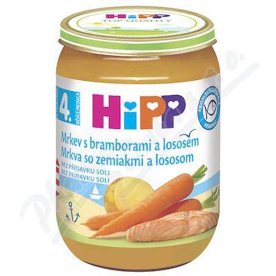 HiPP BABY Mrkev s bramborami a lososem 190g