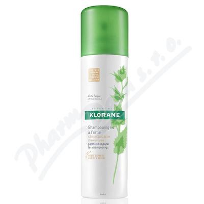 KLORANE Suchý šampon kopřiva-tmavé vlasy 150ml - vlasová péče,péče o vlasy,
