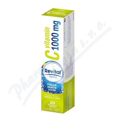 Revital C vitamin 1000mg limetka + grep tbl.eff.20