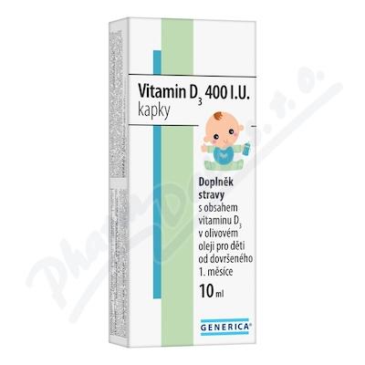 Vitamin D3 400 I.U. kapky 10 ml Generica